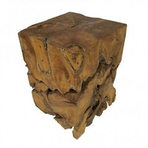Teak root block side table lamp table stool square wood coffee table solid wood