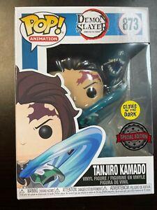 Funko Pop Demon Slayer Tanjiro Kamado water breathing Special Edition 873 GLOW