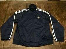 NOTRE DAME Fighting Irish mens L large Adidas zip up track jacket NCAA football