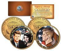John F. Kennedy 24K GOLD Plated 2-Coin U.S. JFK Kennedy Half Dollar Set