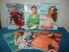 SEW TODAY MAGAZINES - 6  ISSUES 2017 - VOGUE PATTERNS, BUTTERICK, KWIK SEW...
