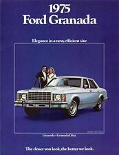 Old Print. 1975 Ford Granada Auto Advertisement