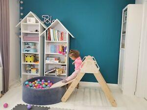Pikler Kletterdreieck klappbar Pikler Dreieck Turnhalle, Spielzeug für Kinder