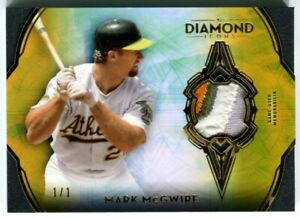 MARK MCGWIRE 2021 Diamond Icons GOLD Parallel JERSEY PATCH RELIC Athletics 1/1