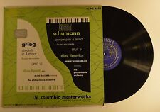 schumann lp concerto in a minor dinu lipatti herbert von karajan   vg+/vg++