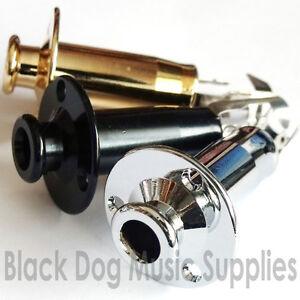 Guitar Jack socket Input strap pin chrome black gold