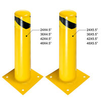 "Safety Bollard Steel Bollard Post 24/36/42/48""H Steel Barrier 4.5/5.5""D"