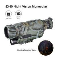 WG-37 Night Vision 5X40 Record Monocular Binoculars Telescopes Scope Hunting DVR