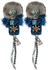 RARE Pilgrim Denmark Silver Earrings Enamel Pink Flowers Pearls Handmade