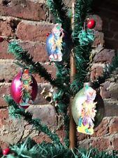 ANTIQUE VINTAGE GLASS Noël Ornement Décorations scrap Christmas Crackers