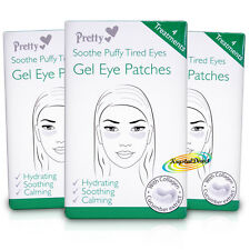 3x Pretty Gel Eye Mask Pad Patches Soothe Puffy Tired Eye Hydrates With Collagen