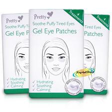 3x Carina Gel Eye Mask Pad Patch lenire Puffy Stanchi Occhio idrata con collagene