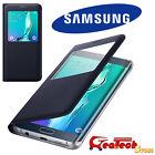 S VIEW Cover Originale Per Samsung Galaxy S6 Edge+ Plus G928F Custodia Slim BLU