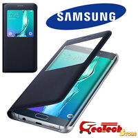 S VIEW Cover Originale Per Samsung Galaxy S6 Edge+ Plus G928F Custodia Slim BLU