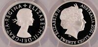 2000 PR69DCAM Twenty Cent Proof 20c Elizabeth II Silver Australian PCGS FDC UNC