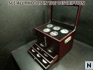 NobleSpirit  - AMERICA THE BEAUTIFUL 56 coin 5oz COMPLETE SET In Wooden Case