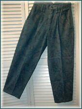 "HUNTERS RUN Dark Green Paisley Pleated Trouser Pants (2) 25"" waist Made in USA"