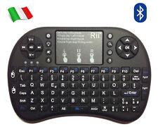 Rii Mini i8+ Bluetooth - Tastiera retroilluminata con mouse touchpad, universale