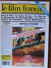Le Film Français N°2126 (30 janv 1987) Cinq et TV6 - Accord UGC-Partner's