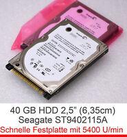 "2,5"" 6,4cm IDE 40 GB NOTEBOOK FESTPLATTE HDD SEAGATE ST940210A - DELL 9CV011-501"