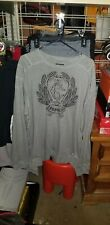 Crooks & Castles Pullover Sweatshirt Heather Gray Sticthed Logo Mens Sz 3XL New