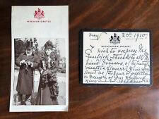 Queen Alexandra Mourning Letter 1910 Autograph Royal Signature Memorabilia