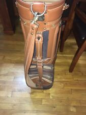 Daiwa Collection Black w/ Leather Trimmed Golf Bag w/ Rain Cover