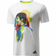 adidas Cotton Short Sleeve Foootball Tops for Men