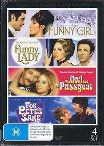 BARBRA STREISAND 4 Movies Funny Girl Funny Lady Owl Pussycat (4x DVD) NEW/SEALED