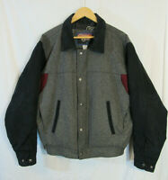 Cripple Creek Men's Insulated Wool Blend Jacket Size M quilted lining near mint!