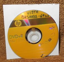Windows Vista Business 64 Bit Loading Disk, Full & Upgrade, On DVD