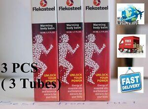 3 PCS ( Tubes) Flekosteel Warming Body Balm - Gel for Join - 50 ml 1.7 fl oz