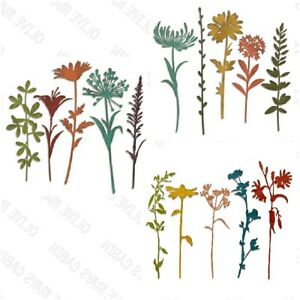 Sizzix dies Wildflower Stems 1  Sizzix Wildflower Stems 2 Stems 3 Tim Holtz