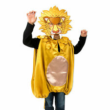 Luxury Yellow Kids Boys Lion Animal Fancy Dress Costume (3-8 Years) Slimy Toad
