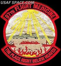 USAF 97th MEDICAL OPERATIONS SQ -THE PLACE RIGHT BELOW HEAVEN-ORIGINAL VEL PATCH