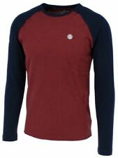 ELEMENT BLUNT Herren Langarmshirt Regular Fit 100% Baumwolle