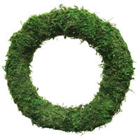 "PACK OF 2 10"" 12"" Padded Moss Effect Wreath Rings Christmas Making Bases Frames"