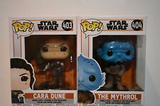 Funko Pop Star Wars Cara Dune 403 & The Mythol 404