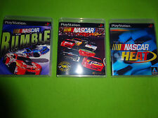Empty Replacement Cases! NASCAR - Racing RUMBLE Heat  - PLAYSTATION PS1 PS2 PS3
