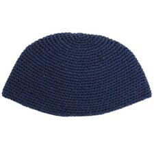 """Great Big Jewish Plain Dark Blue Cotton Knitted Freak Kippah Yarmulke 21Cm 8.3"""""""