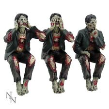 Nemesis Now Set Of Three SEE NO HEAR NO SPEAK NO EVIL WISE ZOMBIES Gothic Horror