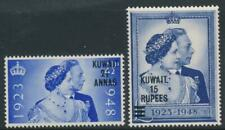Kuwait 1948 Royal Silver Wedding SG 74-75 MNH