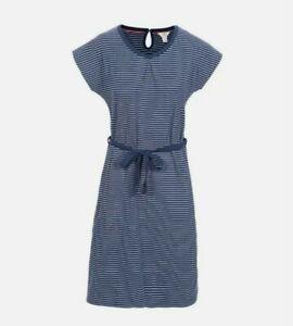 Trespass Lidia Dress Size Large 14 Navy Blue Stripe BNWT Pockets