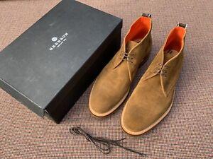 $600 GRENSON Made In England For Rag & Bone Suede Chukka Boot Sz 12F UK 13 US