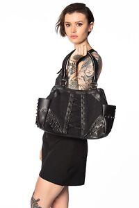 BANNED Apparel Black Rockabilly Gothic Punk Emo Studded Annabel Lee Bag Handbag