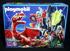 New DRAGON ROCK - PLAYMOBIL 5840 - KNIGHTS Working Catapult RED DRAGON FIGURE