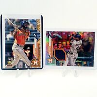 2020 Topps Complete Set Yordan Alvarez Chrome Rookie Relic Card + Gold Star RC!