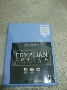 Downland Egyptian Cotton Double Sheet Set in Blue in original Packaging