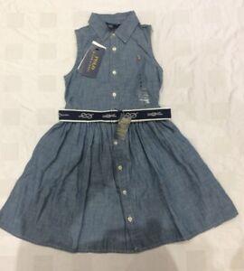 Ralph Lauren Girl's  Sleeveless Denim Dress (5 Years)