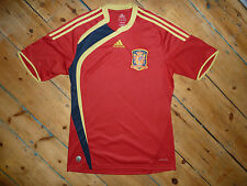 medium + S/S SPAIN 2009 CONFEDERATIONS CUP FOOTBALL SHIRT JERSEY CAMISETA ADIDAS